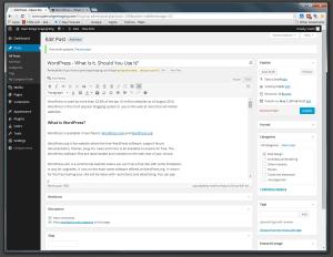 WordPress Edit Post