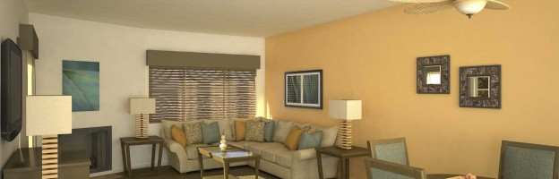 3D Renderings With Custom Furniture and Fixtures